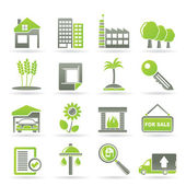 Real Estate and building icons — Stock Vector