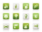 Ecology, environment and nature icons — Stock Vector
