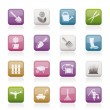 Royalty-Free Stock ベクターイメージ: Garden and gardening tools and objects icons