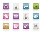 Construction and do it yourself icons — Stock Vector