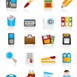 Stock Vector: Office tools Icons