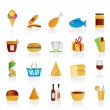 Shop and Foods Icons - Stock Vector