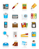 Office tools Icons — Vector de stock