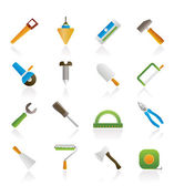 Construction and Building Tools icons — Stock Vector
