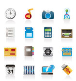 Phone Performance, Internet and Office Icons — Stock Vector