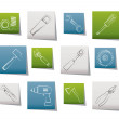 ������, ������: Different kind of tools icons