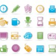 Business and Office tools icons - Stock Vector