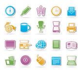 Business and Office tools icons — Vector de stock