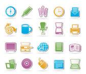 Obchodní a kancelářské nástroje ikony — Stock vektor