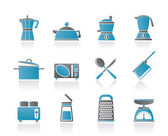 Kitchen and household equipment icon — Stock Vector