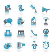 Mobile Phone and communication icons — Stock Vector