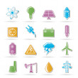 Power and electricity industry icons — Stock Vector #6078848