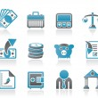 Bank, business and finance icons - Stock Vector