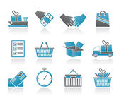 Shipping and logistic icons — Stock Vector