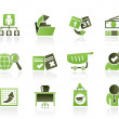 Business, Management and office icons — Stock Vector