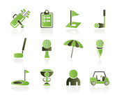 Golf and sport icons — Stockvektor