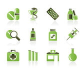 Pharmacy and Medical icons — Stok Vektör