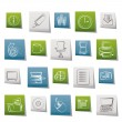Royalty-Free Stock Векторное изображение: Business and Office tools icons