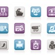 Business,  Management and office icons — Imagen vectorial