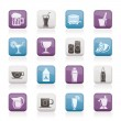 Beverages and drink icons — Stock Vector #6370357
