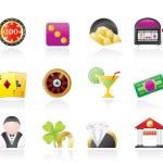 Casino and gambling icons — Stock Vector #6431505