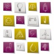 Power and electricity industry icons  — Stock Vector