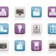 Stock Vector: Business and office equipment icons