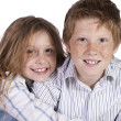 Brother and Sister Goofing Around — Stock Photo #6552339