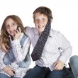 Brother and Sister Goofing Around — Stock Photo