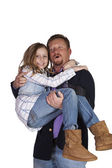 Father and Daughter Posing — Stock Photo