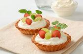 Cream tarts — Stock Photo