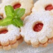 Stock Photo: Jam biscuits
