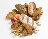 Variedade de pão integral — Fotografia Stock