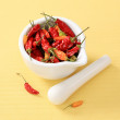 Stock Photo: Dried chili peppers