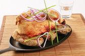 Pollo asado con patatas — Foto de Stock