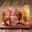 Egg cosies — Stock Photo