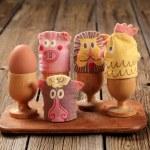 Egg cosies — Stock Photo