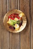 Fresh vegetables and boiled egg — Stock Photo