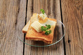 Toast and butter — Stock Photo