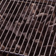 Stock Photo: Charcoal under barbecue grid