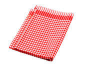 Red and white checked tea towel — Stock Photo