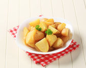 Gekookte aardappelen — Stockfoto