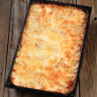 Stock Photo: Lasagna in a baking pan