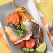 Roasted salmon trout fillets — Stock Photo
