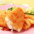 Stock Photo: Fried fish and French fries