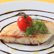 Stock Photo: Salmon trout fillet