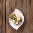 Feta cheese and pickles — Stock Photo #5876566