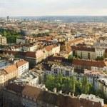 Aerial view of Prague City, Czech Republic — Stock Photo #5876603
