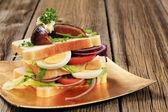 Kanapka wegetariańska — Zdjęcie stockowe