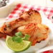 Roast chicken drumsticks — Stock Photo